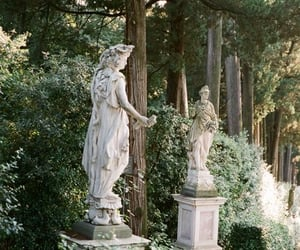 statue, garden, and green image