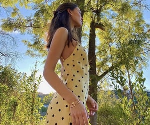dress, model, and nature image