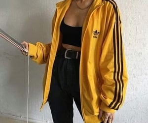 fashion, adidas, and yellow image