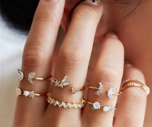 fashion, rings, and ring sets image