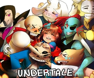 art, papyrus, and undertale image