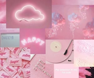 pink, aesthetic, and wallpaper image