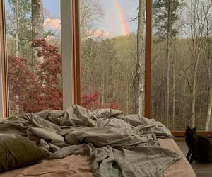 rainbow, nature, and bed image