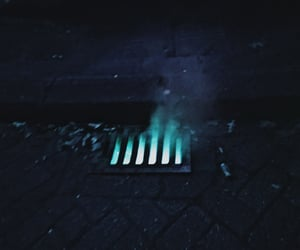blue, fire, and underground image