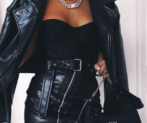 fashion, black, and Prada image