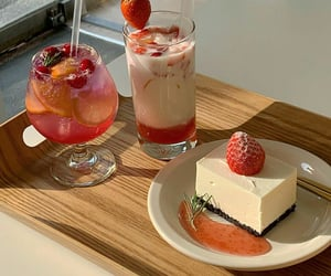 cake, delicious, and drinks image