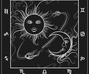 astrology, moon, and sun image