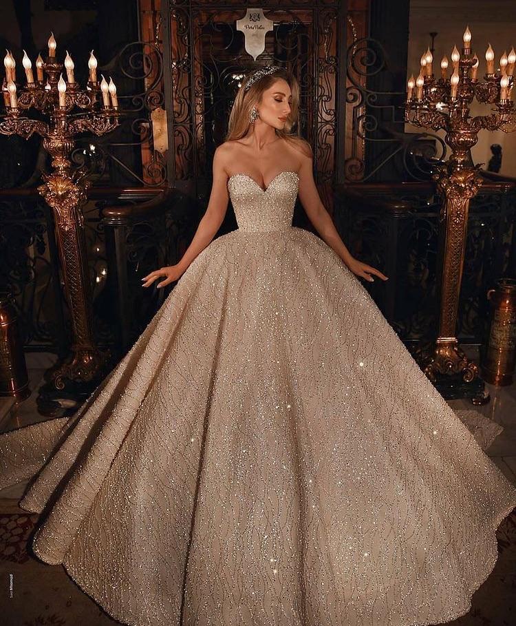 dress, luxury, and bride image