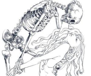 black and white, love, and bones image