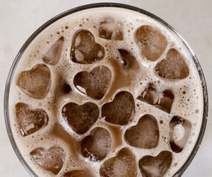 coffee, hearts, and drink image