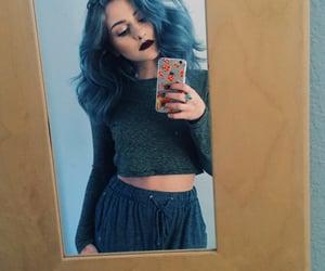 beautiful, woman, and selfie image