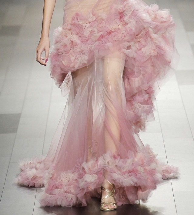 fashion, Marchesa, and pink image