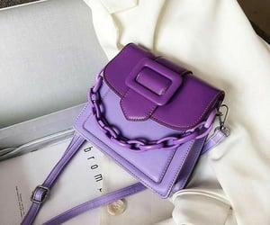 bag, purple, and fashion image