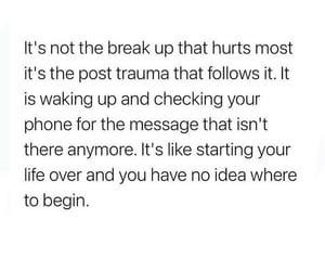 break up, Lyrics, and over image