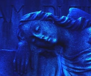 aesthetic, blue, and statue image