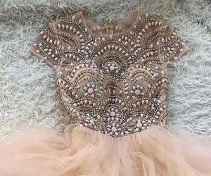 dresses, prom dress, and beaded dress image