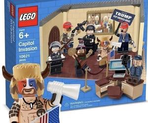 bricks, lego, and trump cult image