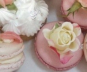 desserts, macaroons, and sweets image