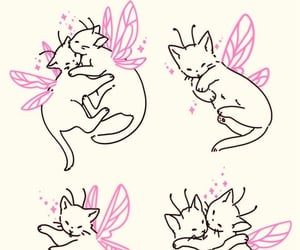 cat, fairy, and drawing image