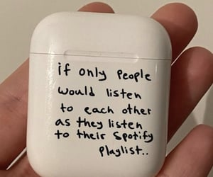 earphones, quotes, and love image
