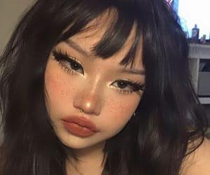 girl, makeup, and baddie image