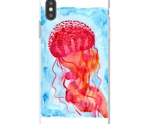illustration, jellyfish watercolor, and handmade art image