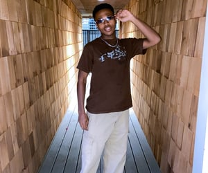 brown, streetwear, and baggy pants image