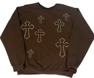 brown, crosses, and cyber image