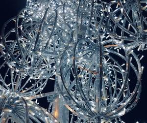 blue, lights, and christmastree image
