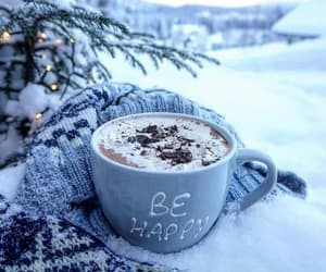 drink, snow, and winter image