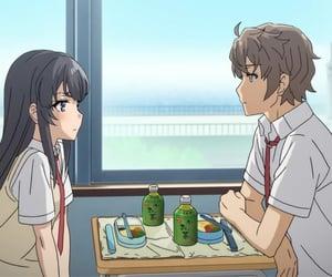 anime couple, anime, and mai sakurajima image