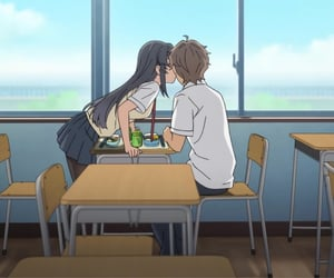 anime, couple, and bunny girl senpai image