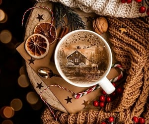 coffee, christmas, and merry christmas image