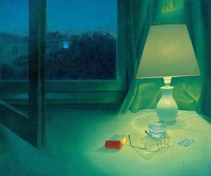 art, modern, and night image