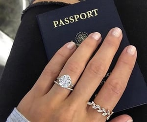 ring, passport, and rings image