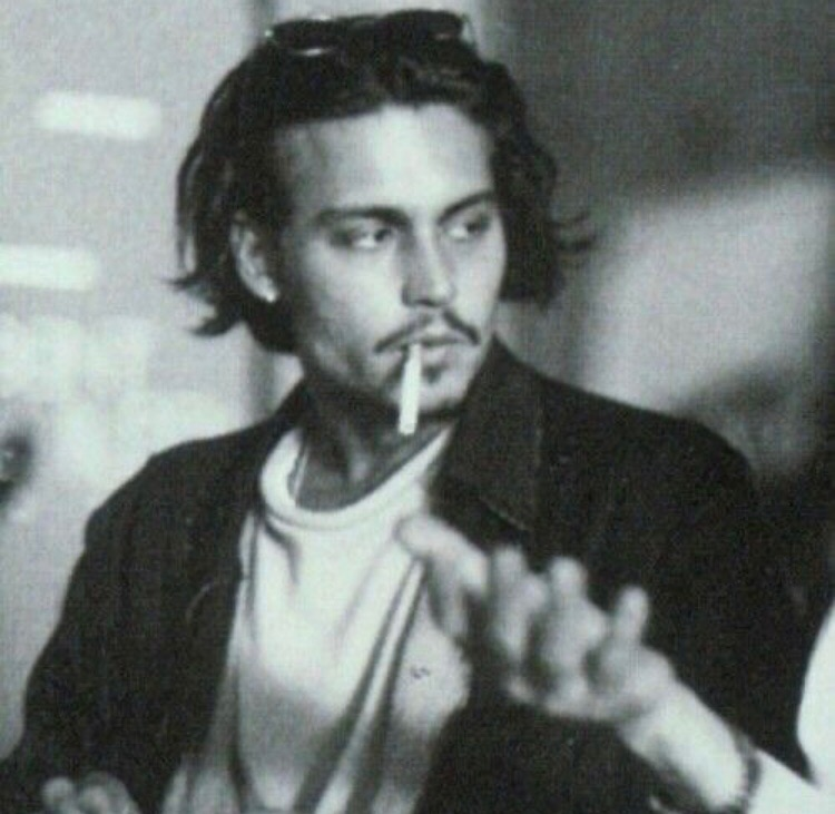 johnny depp, cigarette, and handsome image