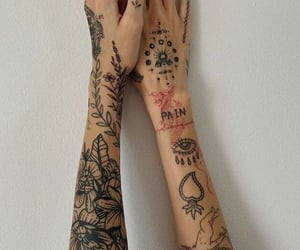 tattoo, fashion, and hands image