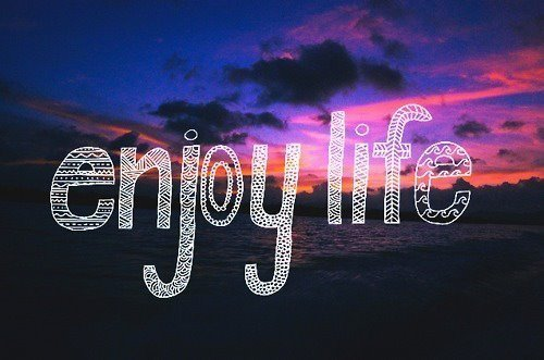 enjoy life image