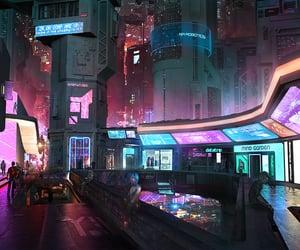 city, cyberpunk, and cyberpunk 2077 image