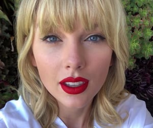 red lipstick, Taylor Swift, and lover image