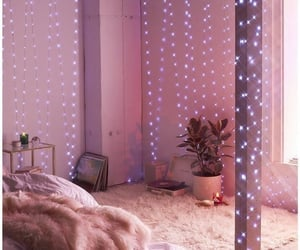baby pink, interior, and cozy image