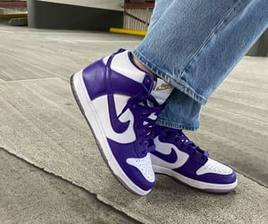 fashion, nike, and purple image