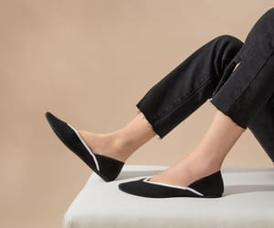 ballet flats, black and white, and vivaia shoes image