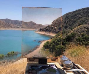 art, painting, and landscape image