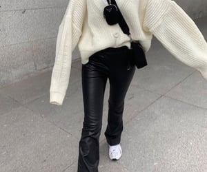 fashionista fashionable, outfit of the day ootd, and black flared pants image