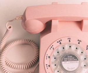 pink, phone, and vintage image
