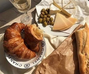 food, baguette, and cheese image