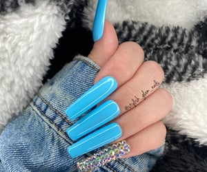 blue nails, nails, and cute nails image