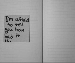 afraid, sad, and bad image