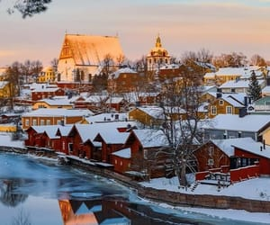 finland, travel, and winter image